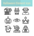 halloween line icon vector image vector image