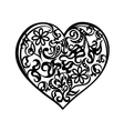 Heart tattoo black vector image vector image