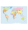 High Detail World map All elements are separated vector image vector image