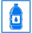 icon with water drop and bottle vector image