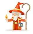 layered mage sorcerer warlock wiseman fantasy vector image vector image