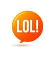 lol text speech label icon pop tag comic vector image vector image