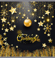 luxury elegance gold glitter merry christmas vector image