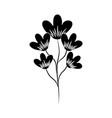 minimalist tattoo flower decoration silhouette art vector image vector image