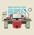 modern office interior in flat design vector image
