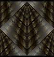 modern striped lattice 3d seamless pattern