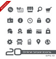 online store icons - basics vector image