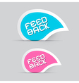 Paper Feedback Icons Isolated on Grey Background vector image vector image