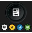 PDF file document icon Download pdf button vector image vector image