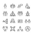 people and social icon set thin line icon theme vector image
