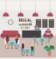 people coffee shop vector image
