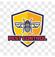 pest control logo isolated on transparent vector image
