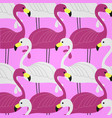 pink and white flamingo background vector image vector image