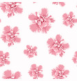 pink camelia peony flowers seamless pattern vector image vector image