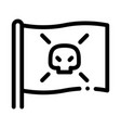 pirate flag icon outline vector image vector image
