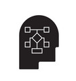 planning process head black concept icon vector image vector image