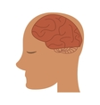 profile head brain idea imagination vector image vector image