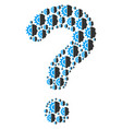 question figure of android robotics icons vector image