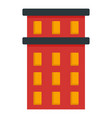 red building icon flat style vector image