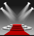 red carpet with pedestal vector image