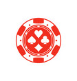 red casino chip vector image vector image