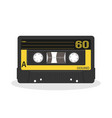 retro audio cassette design old record player vector image vector image
