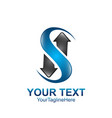 s letter logo icon template symbol s logotype vector image vector image