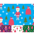 Seamless Santa Claus and gifts vector image vector image