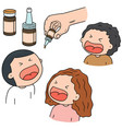 set of oral polio vaccine vector image vector image
