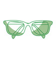 shadow glasses cartoon vector image vector image