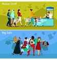 Shopping Compositions Set vector image vector image