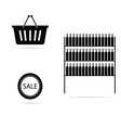 shopping sale black vector image
