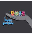 sketch happy new year 2015 design vector image