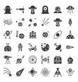 space exploration icon set glyph design vector image
