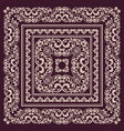 square frame template bandana with vintage vector image vector image