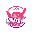 Summer international surfing day 2016 tattoo vector image vector image