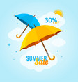 summer sale concept banner poster flyer card vector image