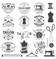 tailor shop badge concept for shirt vector image vector image