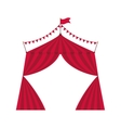 tent icon Circus and carnival design vector image vector image