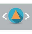 triangle icon vector image vector image