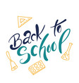welcom to school hand writing quote typography vector image