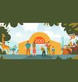 zoo entrance cartoon vector image vector image
