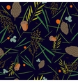 pattern with the image of the forest cones fir vector image