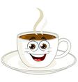 coffee cup cartoon vector image