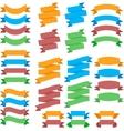 Colorful flat ribbons vector image