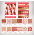 2017 year stylish calendar vector image