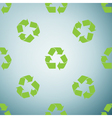Recycle symbol icon pattern on grey background vector image