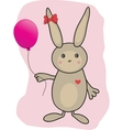 Abstract cartoon easter card with cute bunny vector image vector image