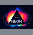 abstract trendy shining neon banner colorful vector image vector image