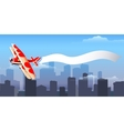 Airplane with message vector image vector image